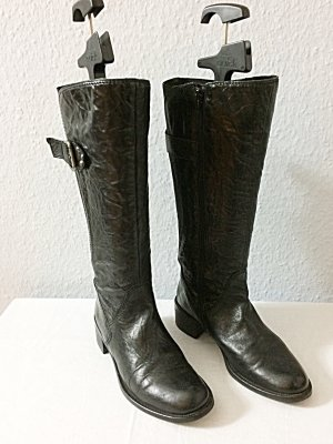 Gabor Boots Stiefel Leder schwarz Größe 4 / 37