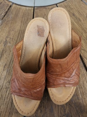 Gabor Clog Sandals brown-cognac-coloured
