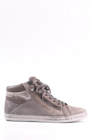 Gabor Comfort High Top Sneaker light grey animal pattern casual look