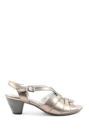 Gabor Comfort Riemchen-Sandaletten bronzefarben Casual-Look