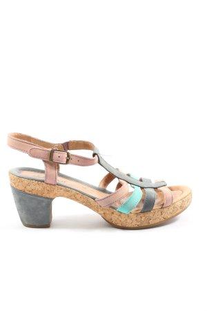 Gabor Comfort Plateau-Sandaletten pink-blau Casual-Look