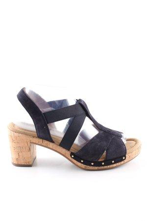 Gabor Comfort Sandalo con cinturino e tacco alto nero stile casual