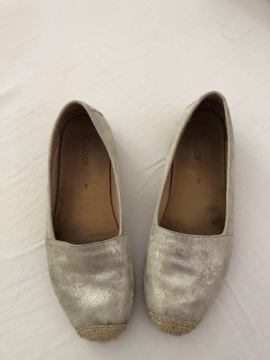 Gabor Moccasins silver-colored