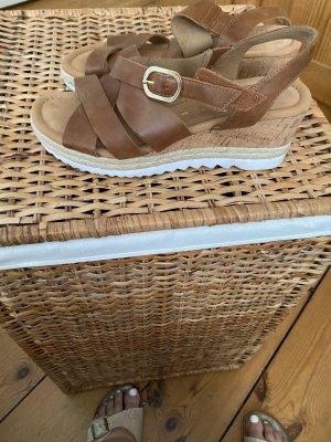 Gabor Sandały z rzemykami brązowy