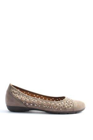 Gabor faltbare Ballerinas hellgrau Casual-Look