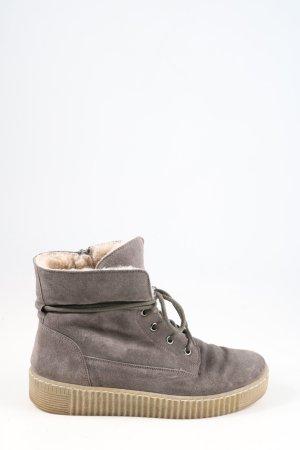 Gabor Botas de piel gris claro look casual
