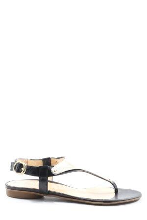 Gabor Sandalo infradito nero-oro stile casual