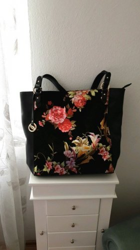 Gabor Handtasche Schultertasche Blumendesign Samt