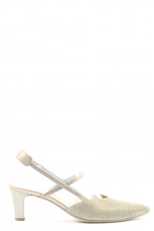 Gabor High Heel Sandaletten goldfarben meliert Casual-Look