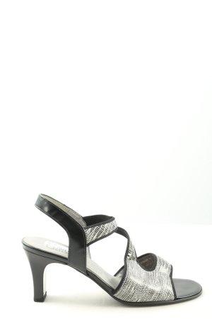 Gabor High Heel Sandaletten schwarz-hellgrau meliert Casual-Look