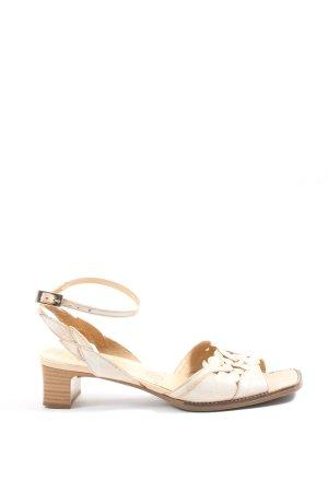 Gabor High Heel Sandaletten creme Casual-Look