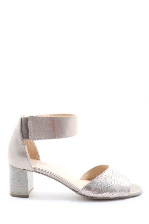 Gabor High Heel Sandaletten goldfarben Casual-Look