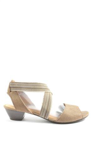 Gabor High Heel Sandaletten wollweiß Casual-Look