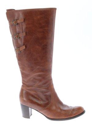 Gabor Wysokie buty na obcasie brązowy W stylu casual
