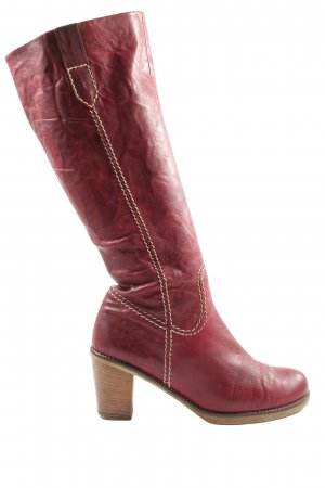 Gabor High Heel Stiefel rot Casual-Look