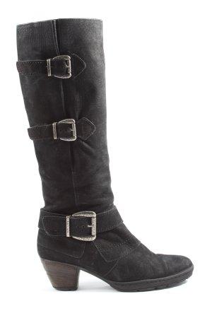 Gabor High Heel Stiefel schwarz-silberfarben Casual-Look