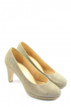 Gabor High Heels goldfarben Elegant