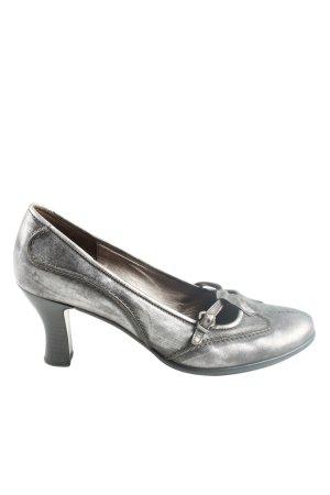 Gabor High Heels hellgrau abstraktes Muster Casual-Look