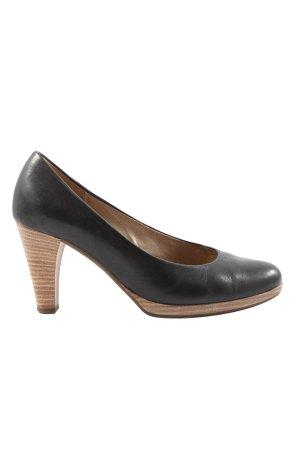 Gabor High Heels schwarz-braun Casual-Look