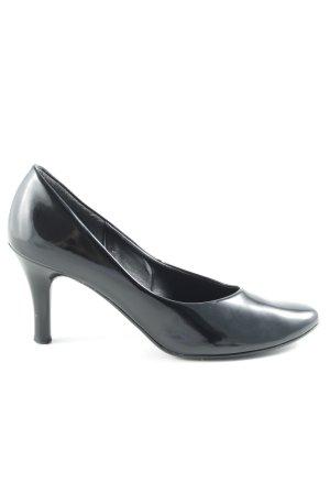 Gabor High Heels schwarz Glanz-Optik