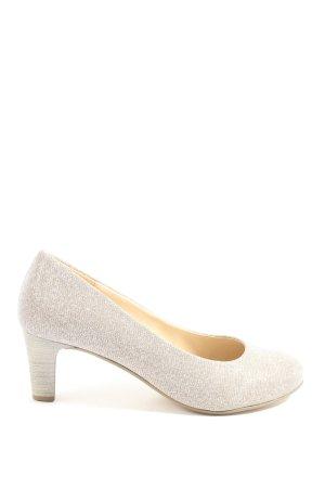 Gabor Chaussure à talons carrés gris clair élégant