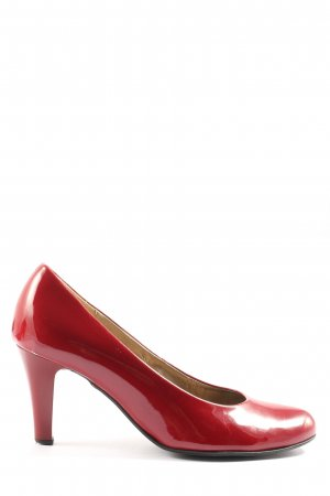 Gabor Chaussure à talons carrés rouge style d'affaires