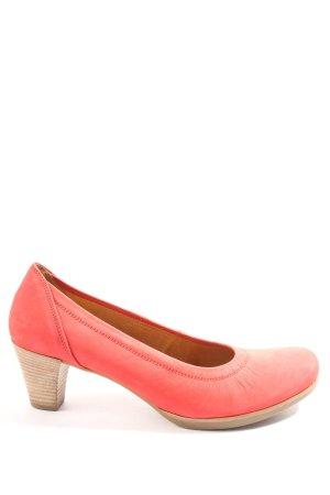 Gabor Chaussure à talons carrés rouge style décontracté