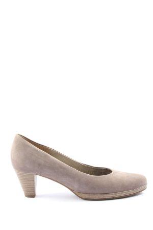 Gabor Chaussure à talons carrés blanc cassé style décontracté
