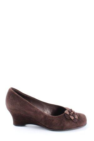 Gabor Półbuty na niskiej koturnie brązowy W stylu casual