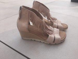 Gabor T-Strap Sandals rose-gold-coloured