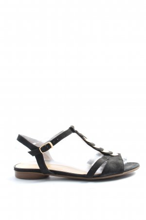 Gabor Komfort-Sandalen schwarz-goldfarben Casual-Look