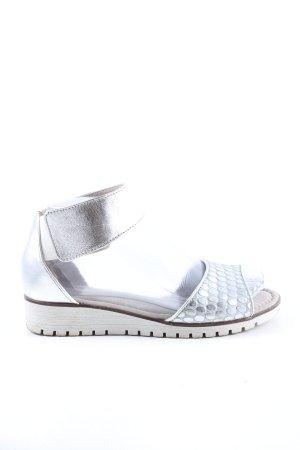 Gabor Komfort-Sandalen silberfarben Casual-Look