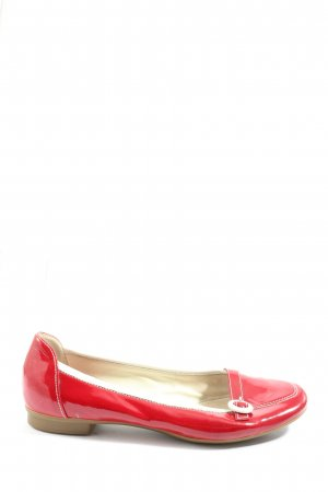 Gabor Patent Leather Ballerinas red casual look