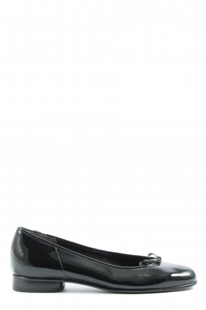 Gabor Lackballerinas schwarz Business-Look