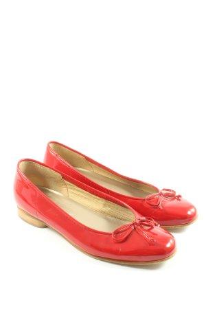 Gabor Ballerines en cuir verni rouge style décontracté