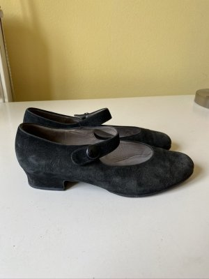 Gabor Strappy Ballerinas black leather