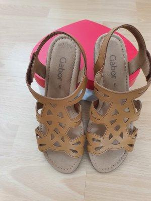 Gabor Comfort Sandals cognac-coloured
