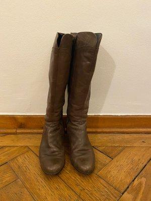Gabor Heel Boots dark grey leather