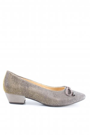 Gabor Loafers silver-colored-gold-colored glittery