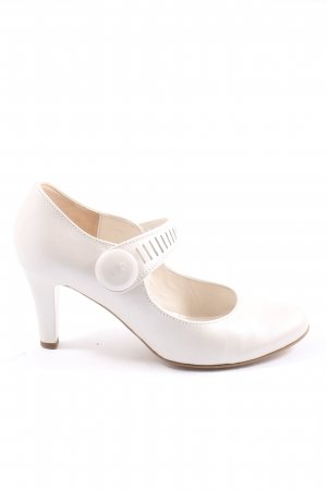 Gabor Mary Jane Pumps weiß Casual-Look