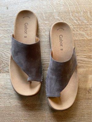 Gabor Comfortabele sandalen grijs-bruin