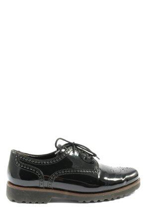 Gabor Chaussure Oxford noir style décontracté