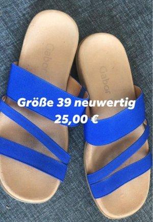 Gabor Heel Pantolettes neon blue