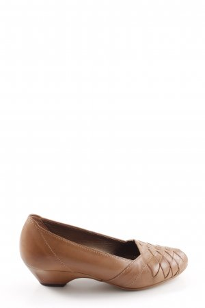 Gabor Peep Toe Ballerinas brown casual look