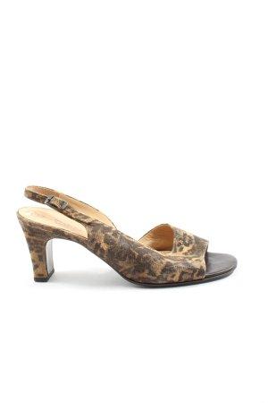 Gabor Peep Toe Pumps bruin-licht Oranje luipaardprint elegant