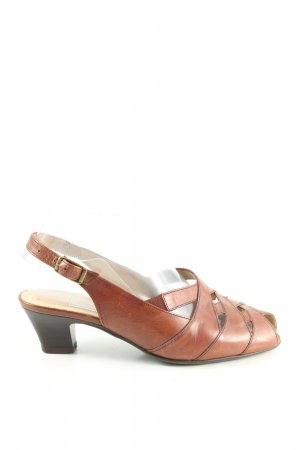 Gabor Peeptoe Pumps braun Casual-Look