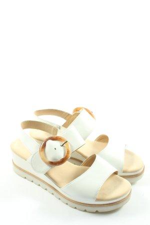 Gabor Platform Sandals white casual look