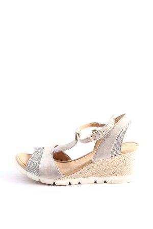 Gabor Platform Sandals natural white casual look