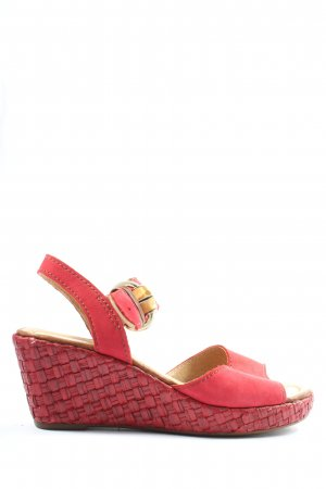 Gabor Plateau-Sandalen rot Casual-Look