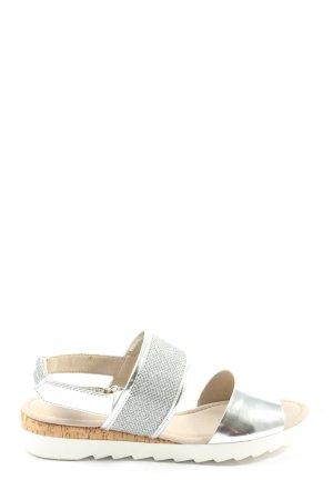 Gabor Sandalias con plataforma color plata look casual